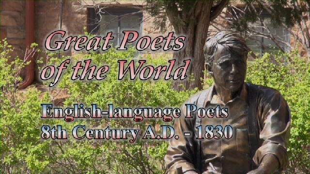English-language Poets: 8th Century A.D. - 1830
