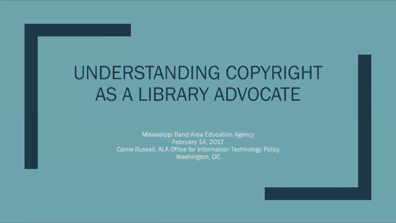 Understanding Copyright as a Library Advocate