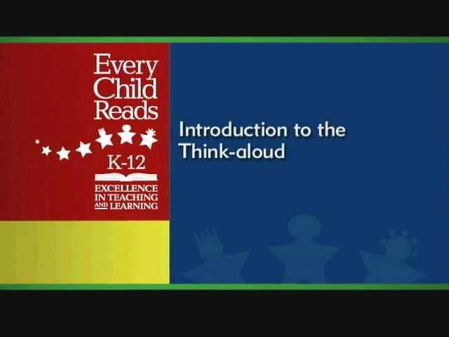 Comprehension: The Think-aloud - Introduction and Demonstrations