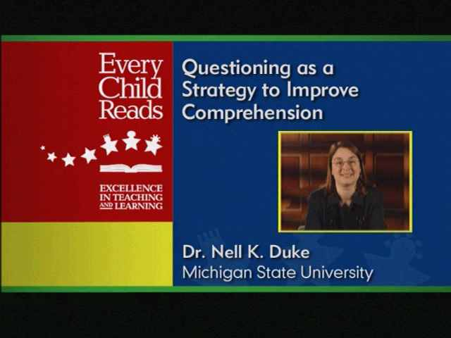 Comprehension: Using the Question Answer Relationship (QAR) Strategy